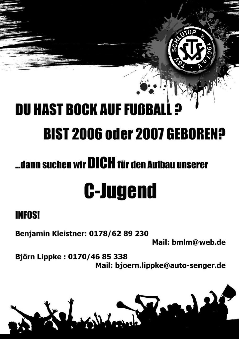 Fußballer für C-Jugend und D-Jugend gesucht