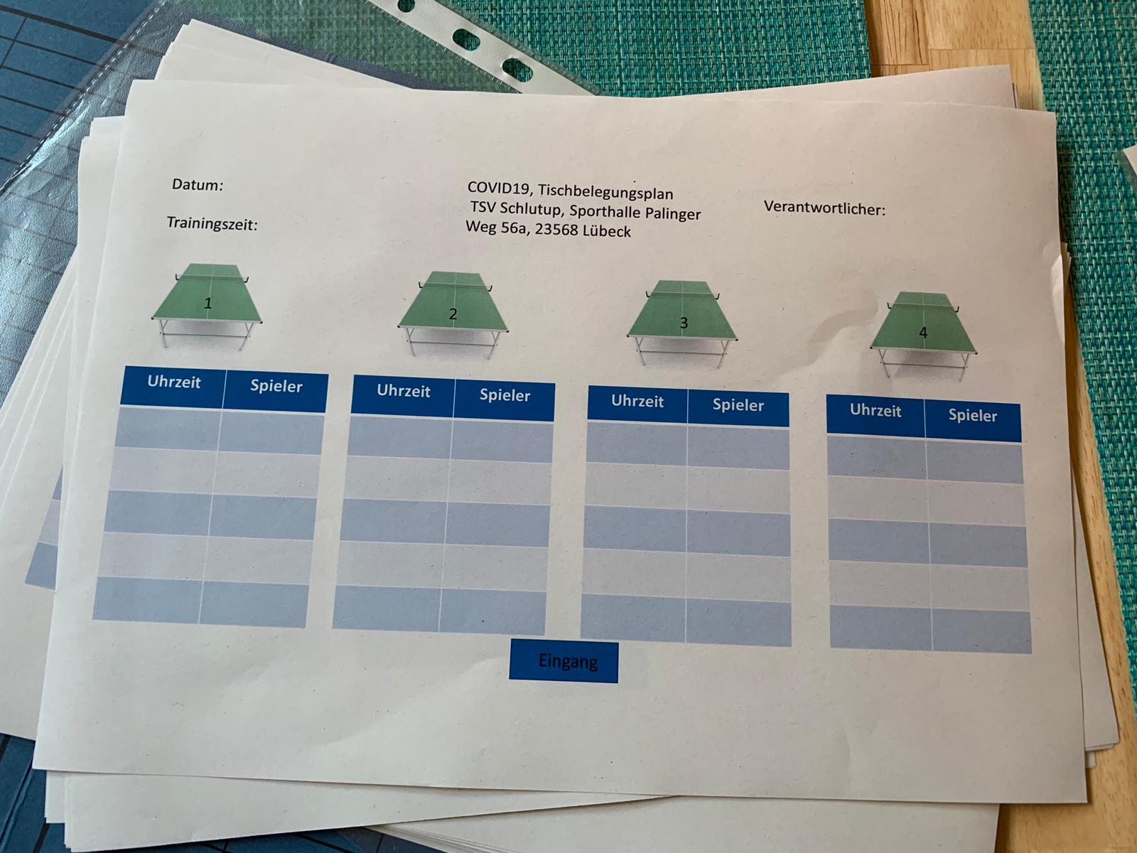 22.05. endlich wieder Tischtennis Training (mit Auflagen)